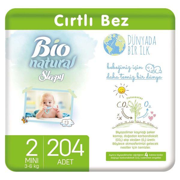 Resim Bio Natural Bebek Bezi 2 Numara Mini 204 Adet