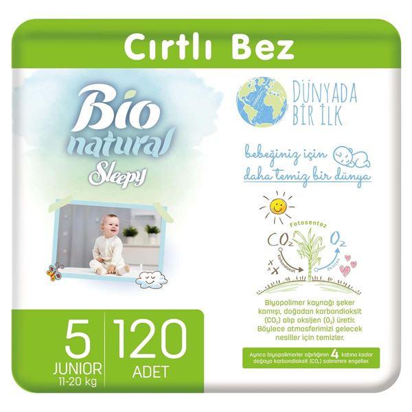Resim Bio Natural Bebek Bezi 5 Numara Junior 120 Adet