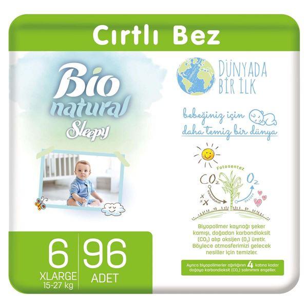 Bio Natural Bebek Bezi 6 Numara Xlarge 96 Adet