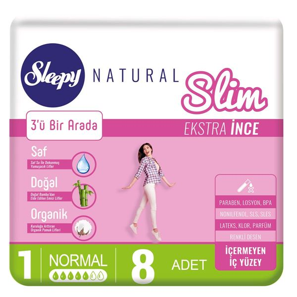 Sleepy Natural Slim Ekstra İnce Normal (8 Ped)