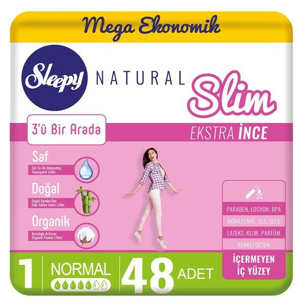 Sleepy Natural Slim Ekstra İnce Normal(48 Ped)
