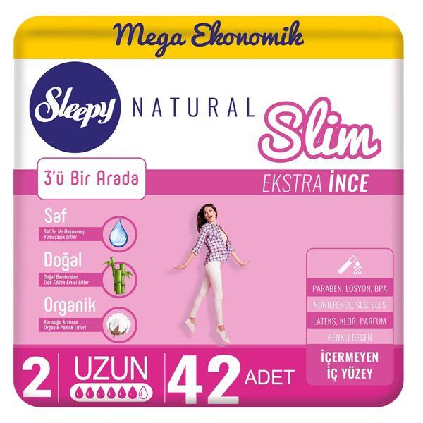Resim Sleepy Natural Slim Ekstra İnce Uzun(42 Ped)