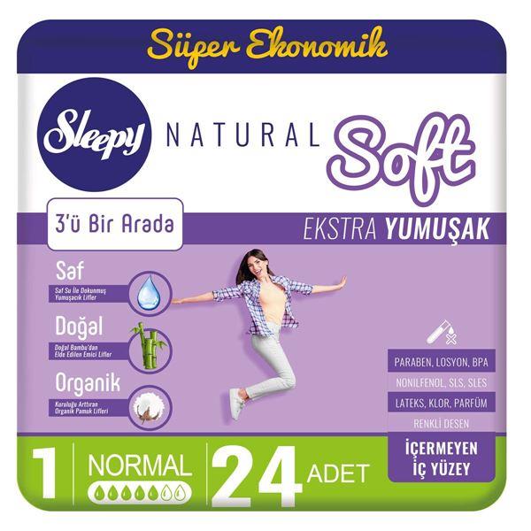 Sleepy Natural Soft Ekstra Yumuşak Normal(24 Ped)