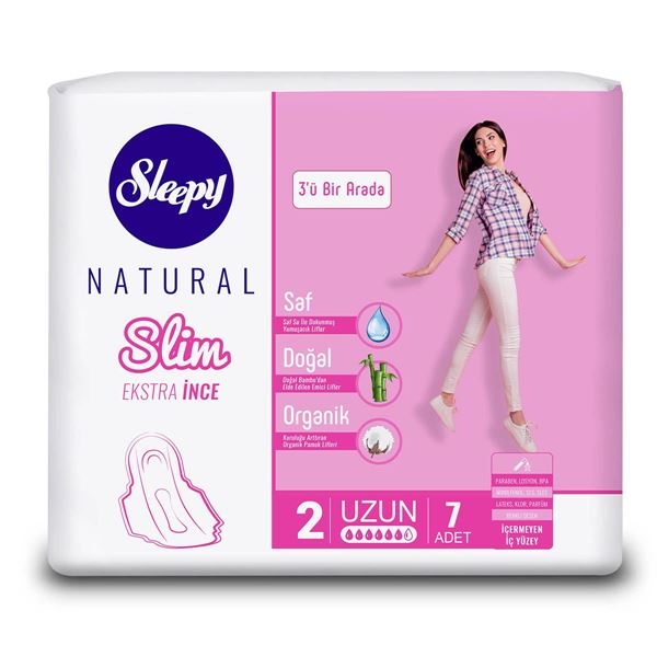 Sleepy Natural Slim Ekstra İnce Uzun (7 Ped)