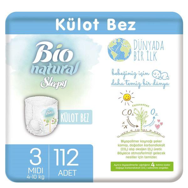 Resim Bio Natural Külot Bez 3 Numara Midi 112 Adet