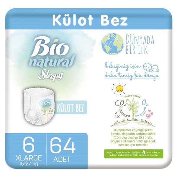 Resim Bio Natural Külot Bez 6 Numara Xlarge 64 Adet