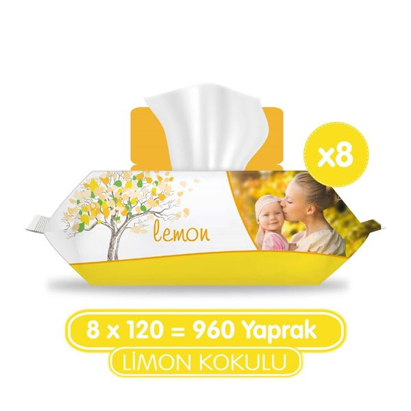 Sleepy Limon Kokulu Islak Havlu 8x120