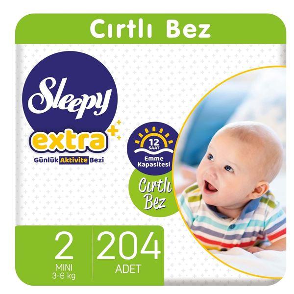 Sleepy Extra Günlük Aktivite Bezi 2 Numara Mini 204 Adet