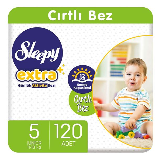Sleepy Extra Günlük Aktivite Bezi 5 Numara Junior 120 Adet