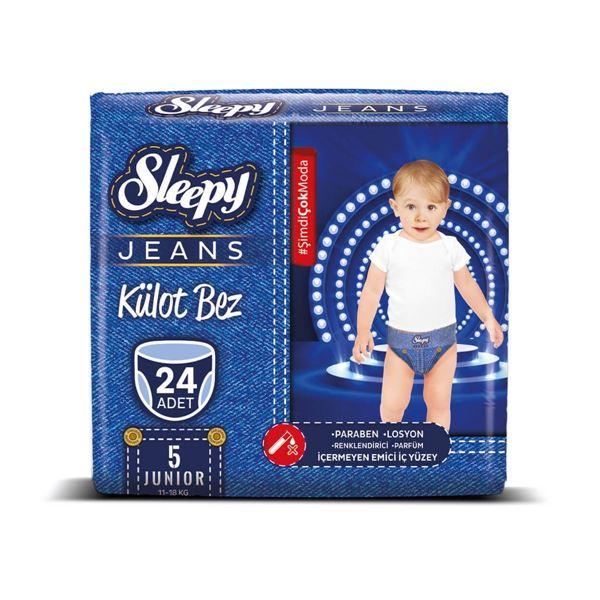 Resim Sleepy Jeans KÜLOT Bez 5 Numara Junior 24 Adet
