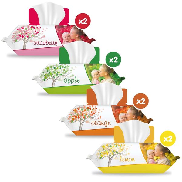 Sleepy Meyve Serisi Islak Havlu 8 Paket (960 Yaprak)