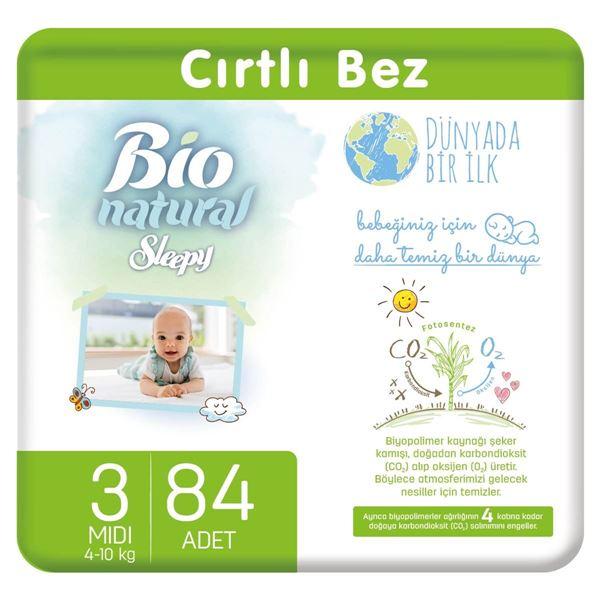 Bio Natural Bebek Bezi 3 Numara Midi 84 Adet