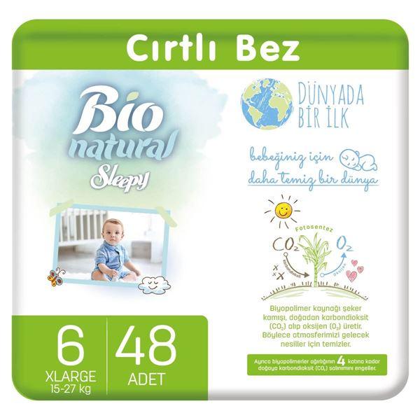 Bio Natural Bebek Bezi 6 Numara Xlarge 48 Adet